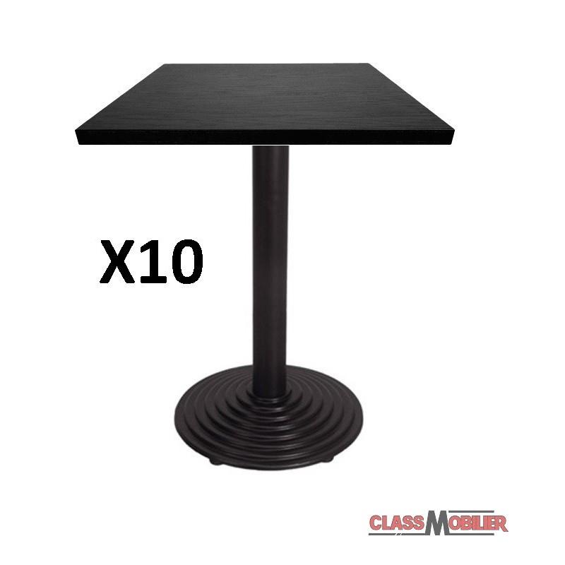 Lot de 10 tables 60x60 lot de 10 tables 2 places 60x60cm for Table exterieur 60x60