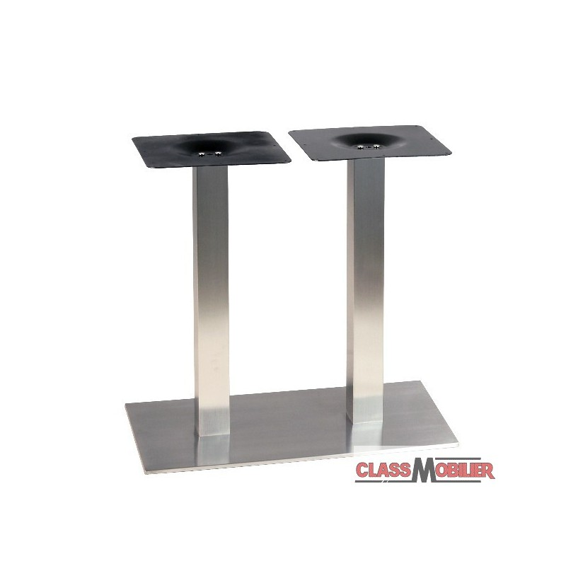 pied de table pour table de 4 personnes en inox bross 233 ultra plat