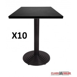 lot de 10 tables 60x60