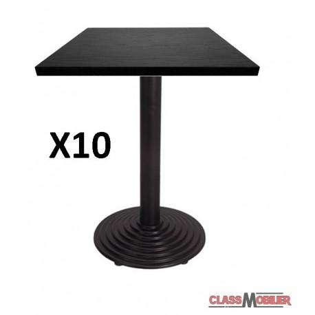 lot de 10 tables 60x60