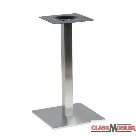 Pied De Table Inox.Pied Inox Pour Table 2 Personnes Pietement De Table En Inox Brosse Base Carree Adapte Pour Plateau De Dimension 60 Cm Max 79