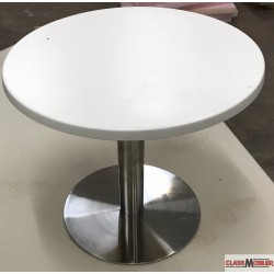 table basse pied inox