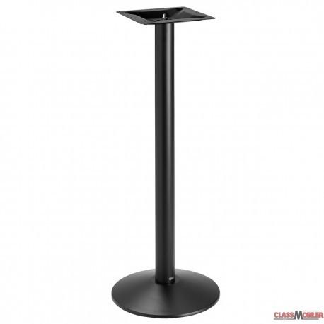 Piètement de table mange debout base ronde en acier noir ultra plat
