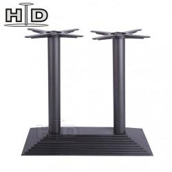 Piètement base pyramidale en acier noir pour plateau rectangulaire