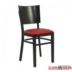 Chaise bistrot en bois assise rembourré