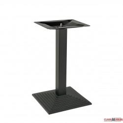 Pied de table en acier noir base carree pyramidale 2 personnes